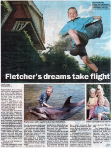 Fletch in Geelong Advertiser 2